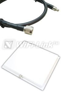 2.4GHz PANEL 20dBi + RSMAP cable 15m