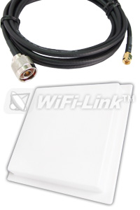 2.4GHz PANEL 14dBi + RSMAP cable 7m/23ft
